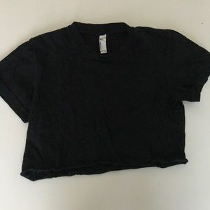 America Apparel black cropped top